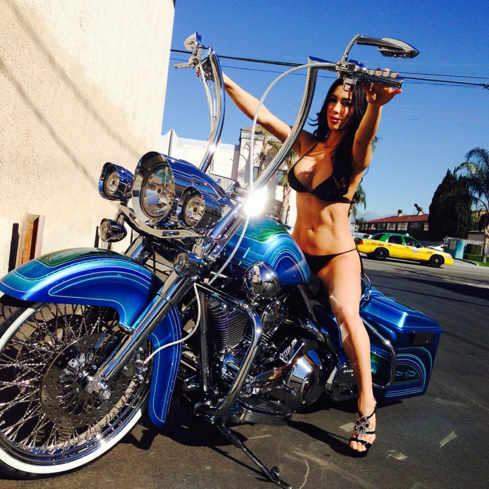 shoot with Joselyn Cano for HotBike mag