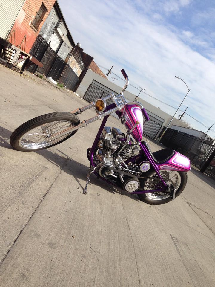 Behind the scenes of my shoot with Yuriko's custom shovel head for Streetchopper mag