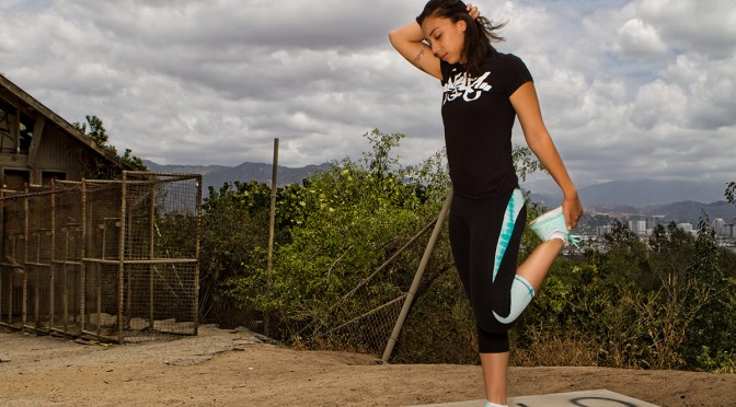 Stretch and Run with Jess Romero in her Panic39 Gear at the Old LA Zoo