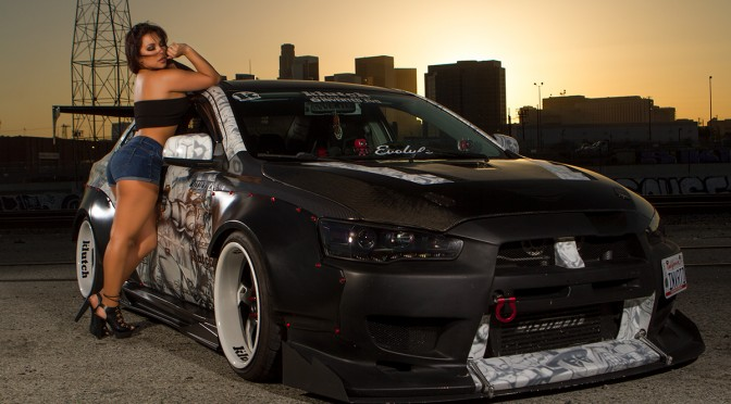 Trixie with Armando's Evo at Sunset in Los Angeles