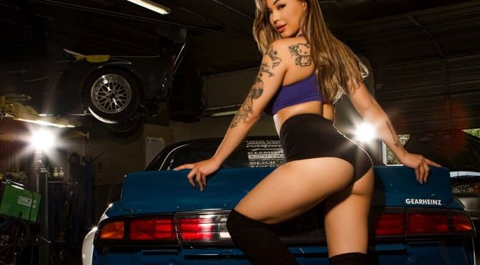 Asia Kristine with Steve's Rocketbunny Pandem Boss 240 with N54 Engine