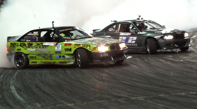 Rome Charpentier competing at The drift league Irwindale finals First Place ( SLC02 )