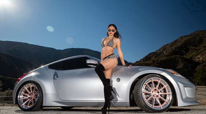 MissLinYeh with her 350Z in the mountains (Photoshoot)