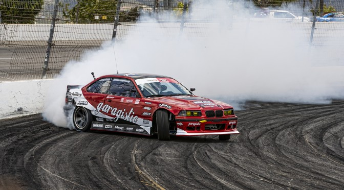 Rome Charpentier Testing his new Formula Drift Pro Car at Irwindale Speedway